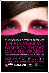 The Fashion District Gala Poster